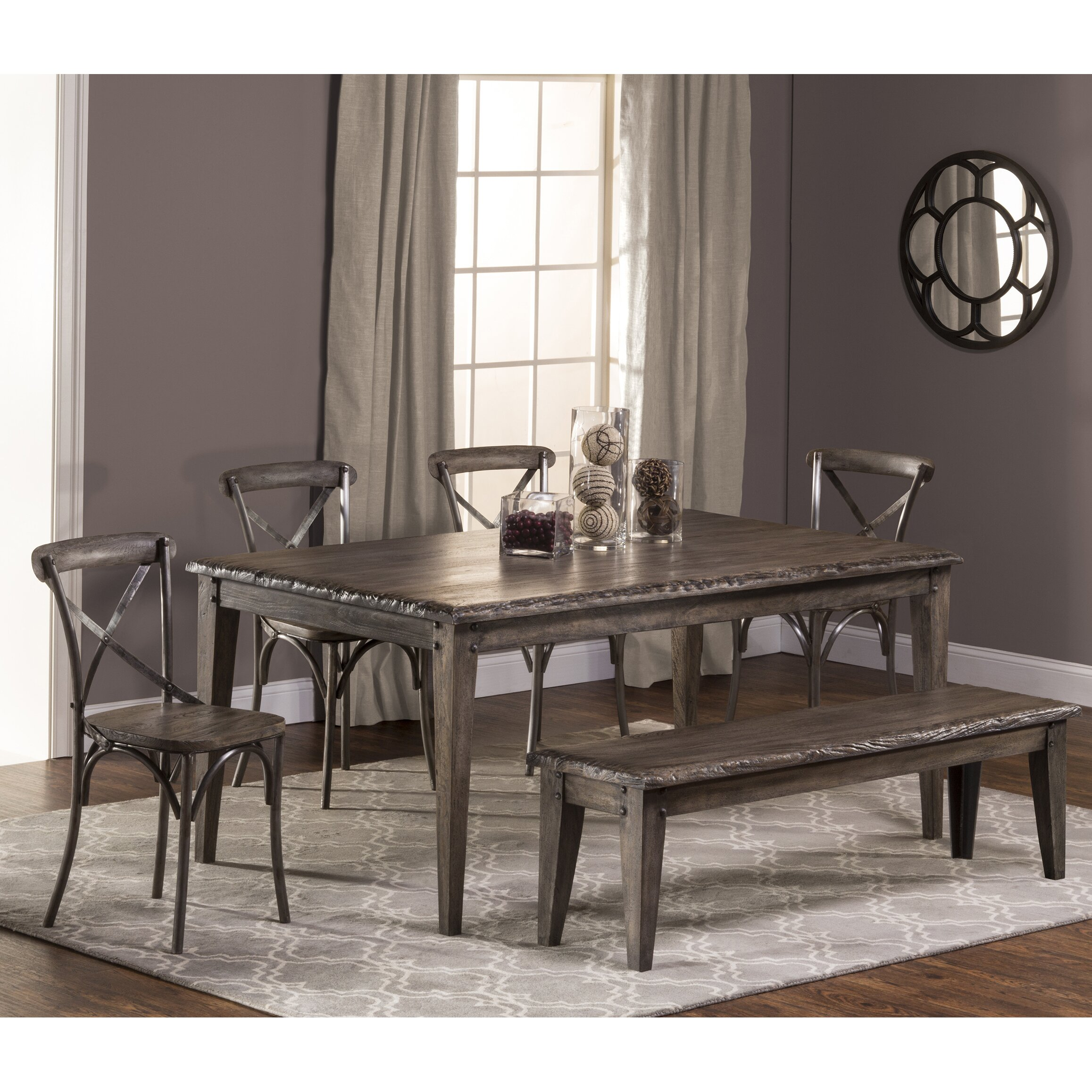 Hillsdale lorient 6 piece dining set wayfair for Dining room sets 6 piece