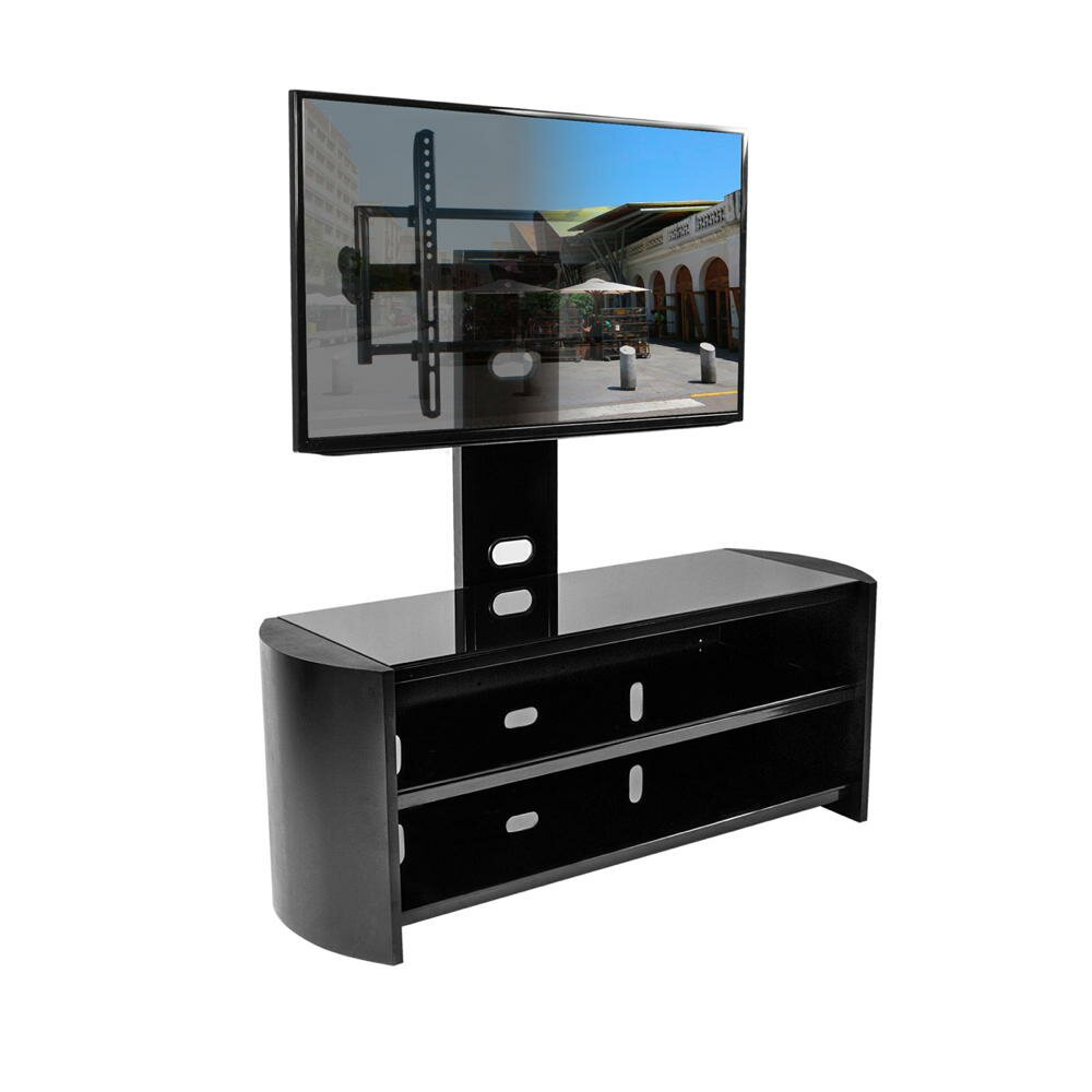 kanto oasis 50 plus tv stand with mount reviews wayfair. Black Bedroom Furniture Sets. Home Design Ideas