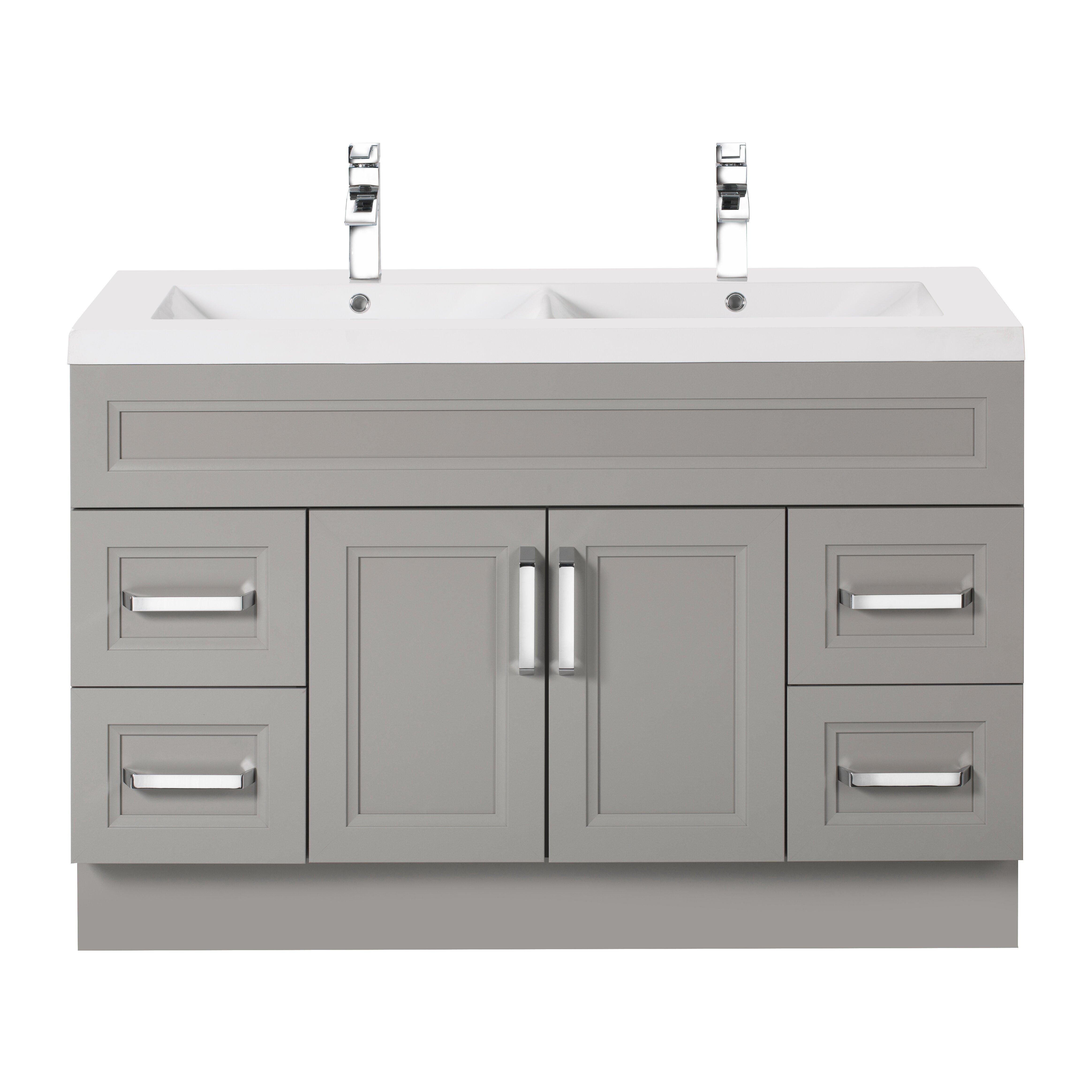"Double Bowl Vanity Tops For Bathrooms: Cutler Kitchen & Bath Urban 48"" Vanity Double Bowl"