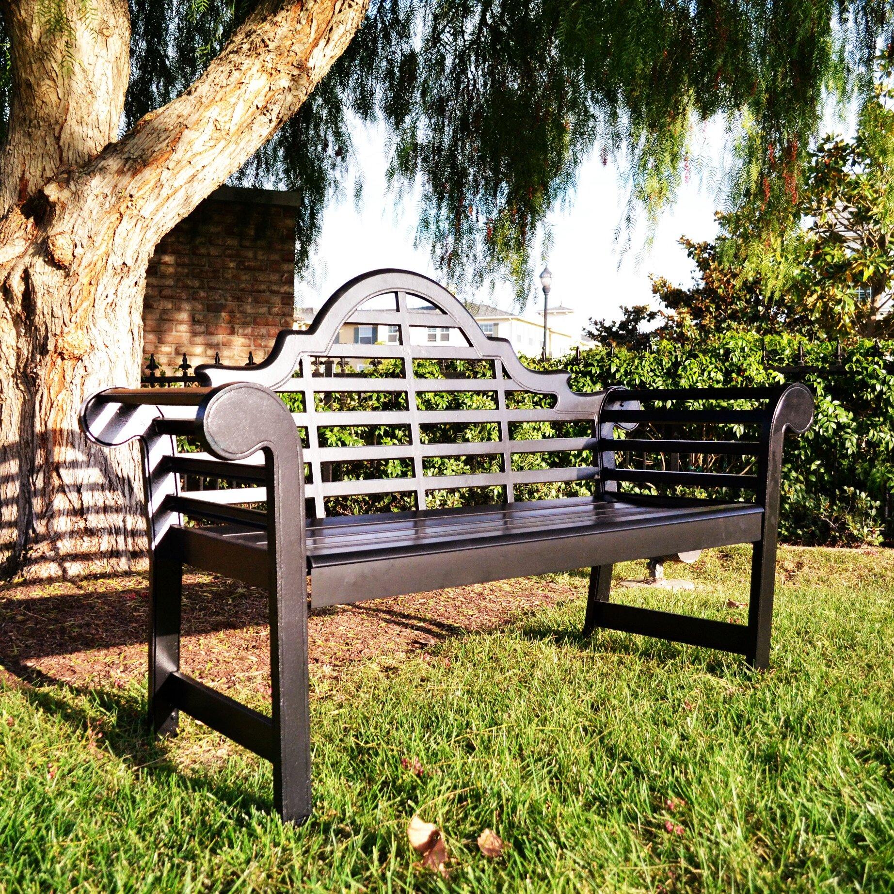 Hearth Bench: Innova Hearth And Home Lutyens Aluminum Garden Bench