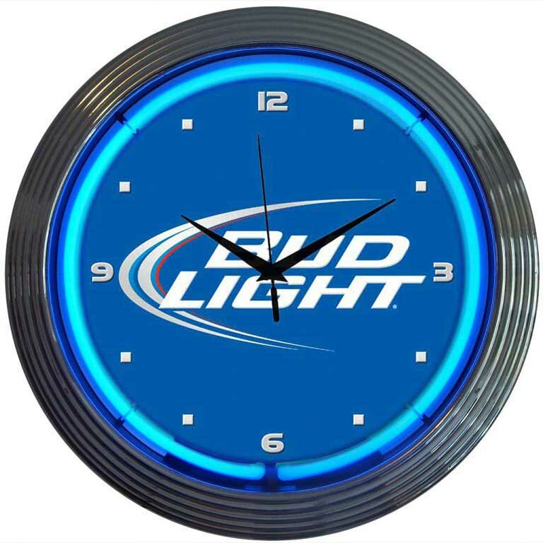 "Neonetics 15"" Bud Light Wall Clock & Reviews 