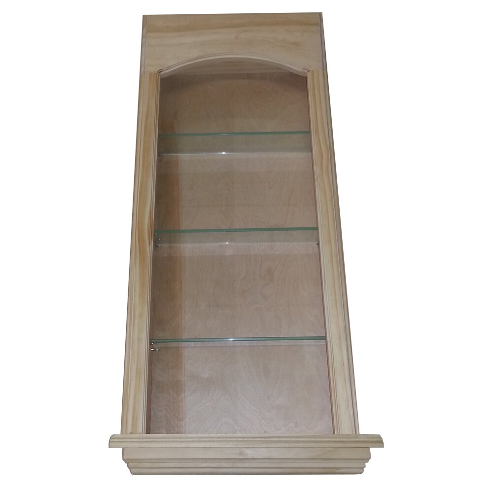WG Wood Products Standard In The Wall Cove 3 Shelf Niche