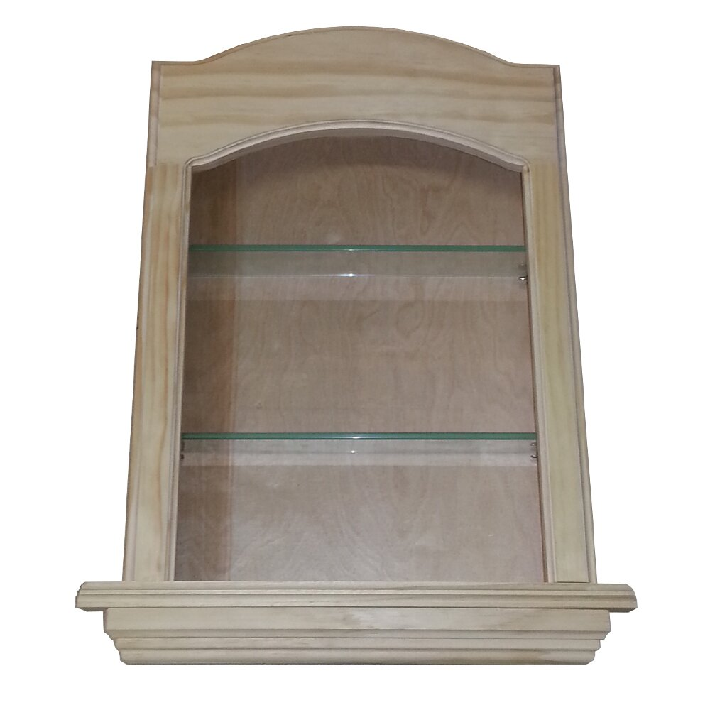WG Wood Products Curve Top In The Wall Cove 2 Shelf Niche
