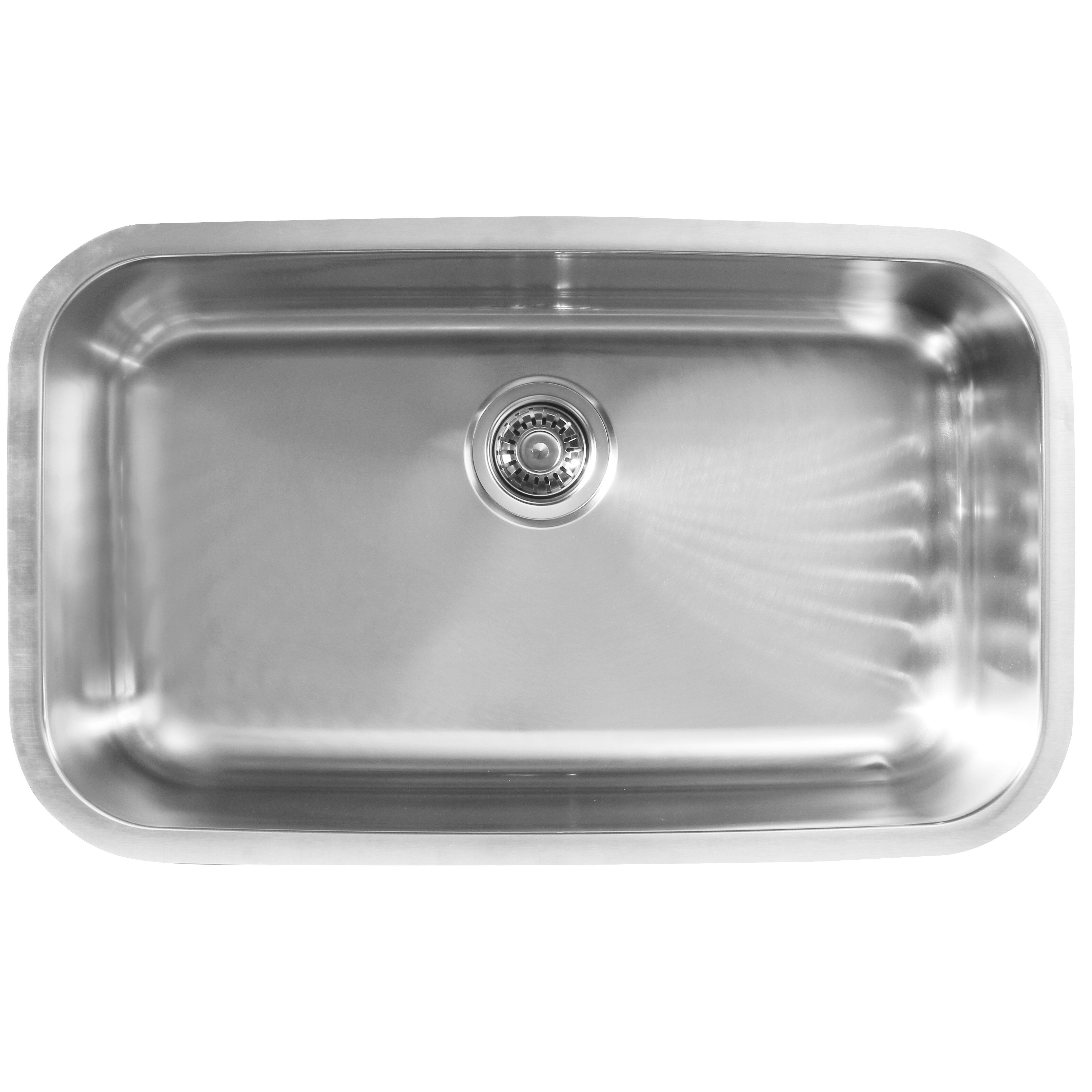Ukinox 30 5 X 18 5 Single Bowl Undermount Kitchen Sink Wayfair