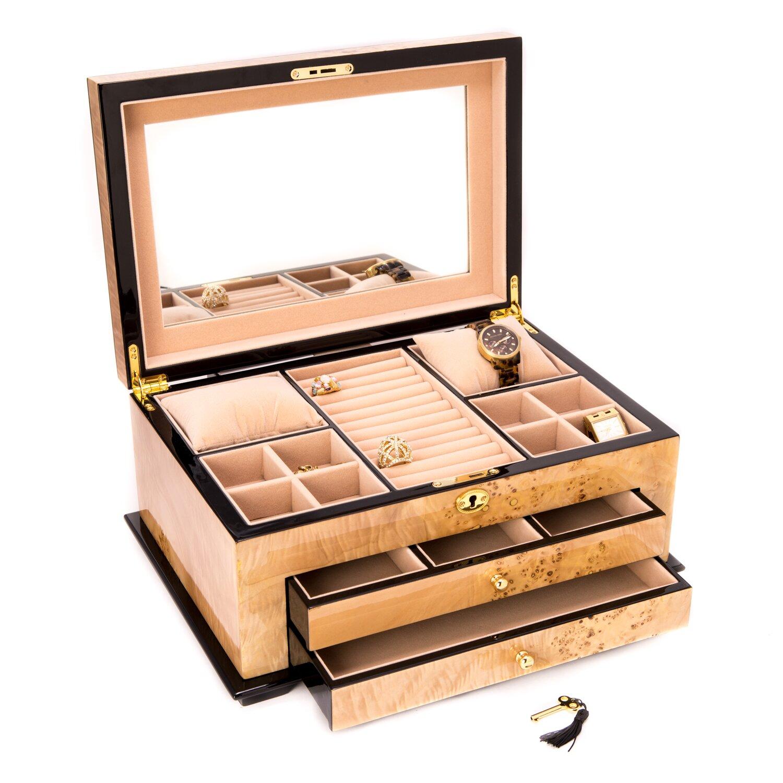 Bey berk 3 level jewelry box reviews wayfair for Bey berk jewelry box
