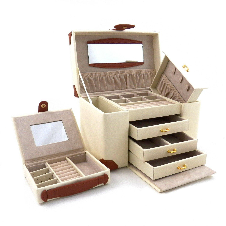 Bey berk 4 level multi compartment jewelry box reviews for Bey berk jewelry box