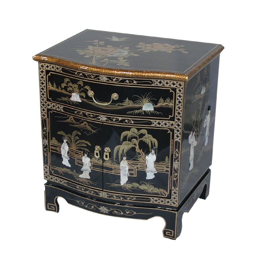 Grand international decor mother of pearl side table for International decor