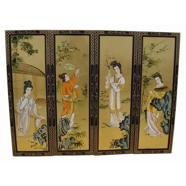 Grand international decor gold leaf ladies 4 piece for International decor uk