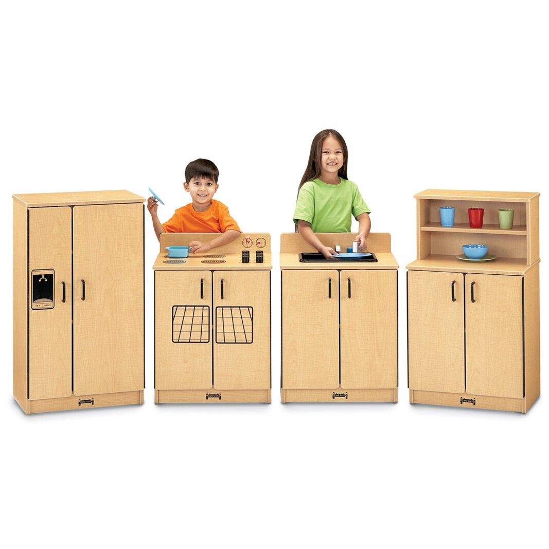 Jonti craft 4 piece birch kitchen set reviews wayfair for Kitchen set natural