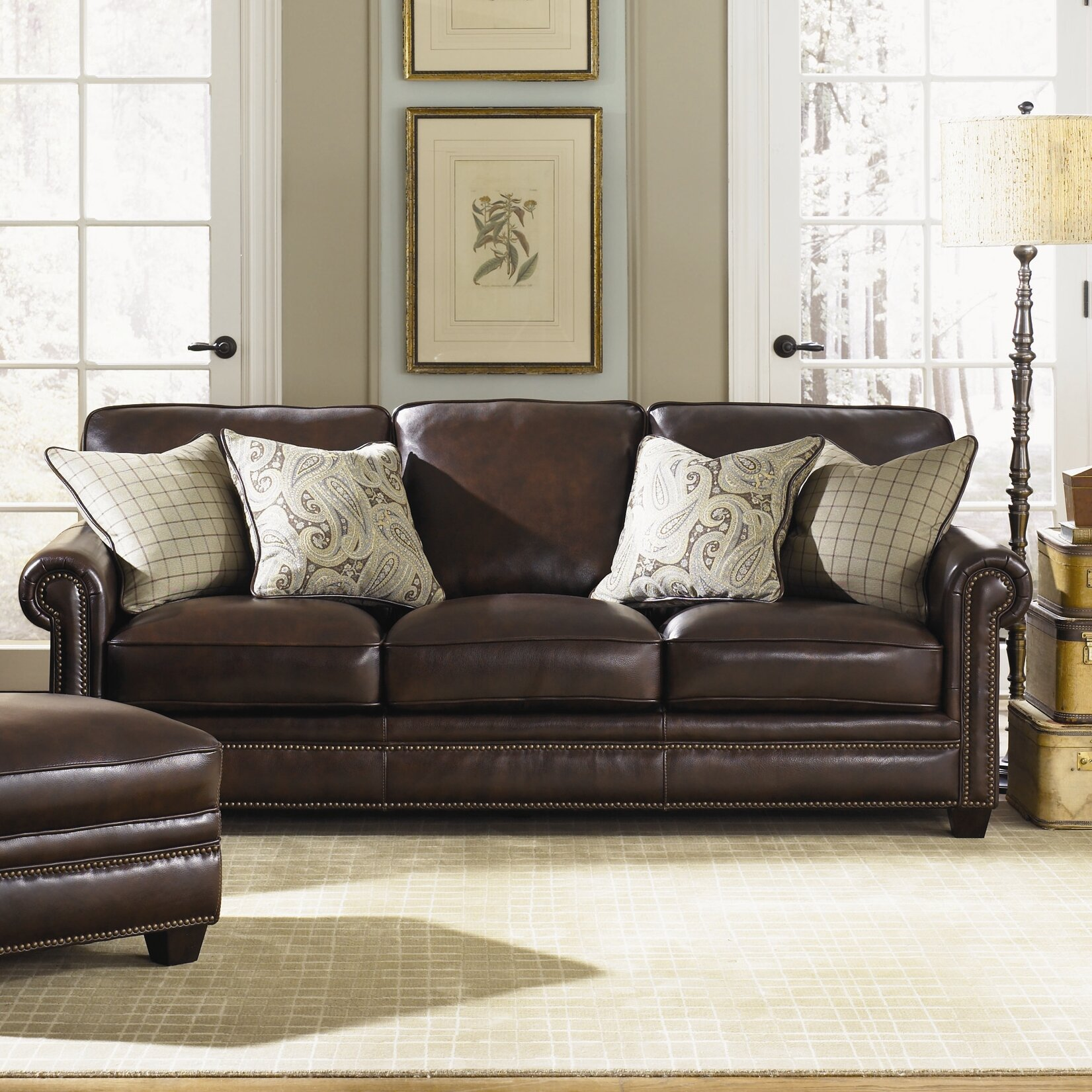 Simon Li Burke Leather Sofa Amp Reviews Wayfair