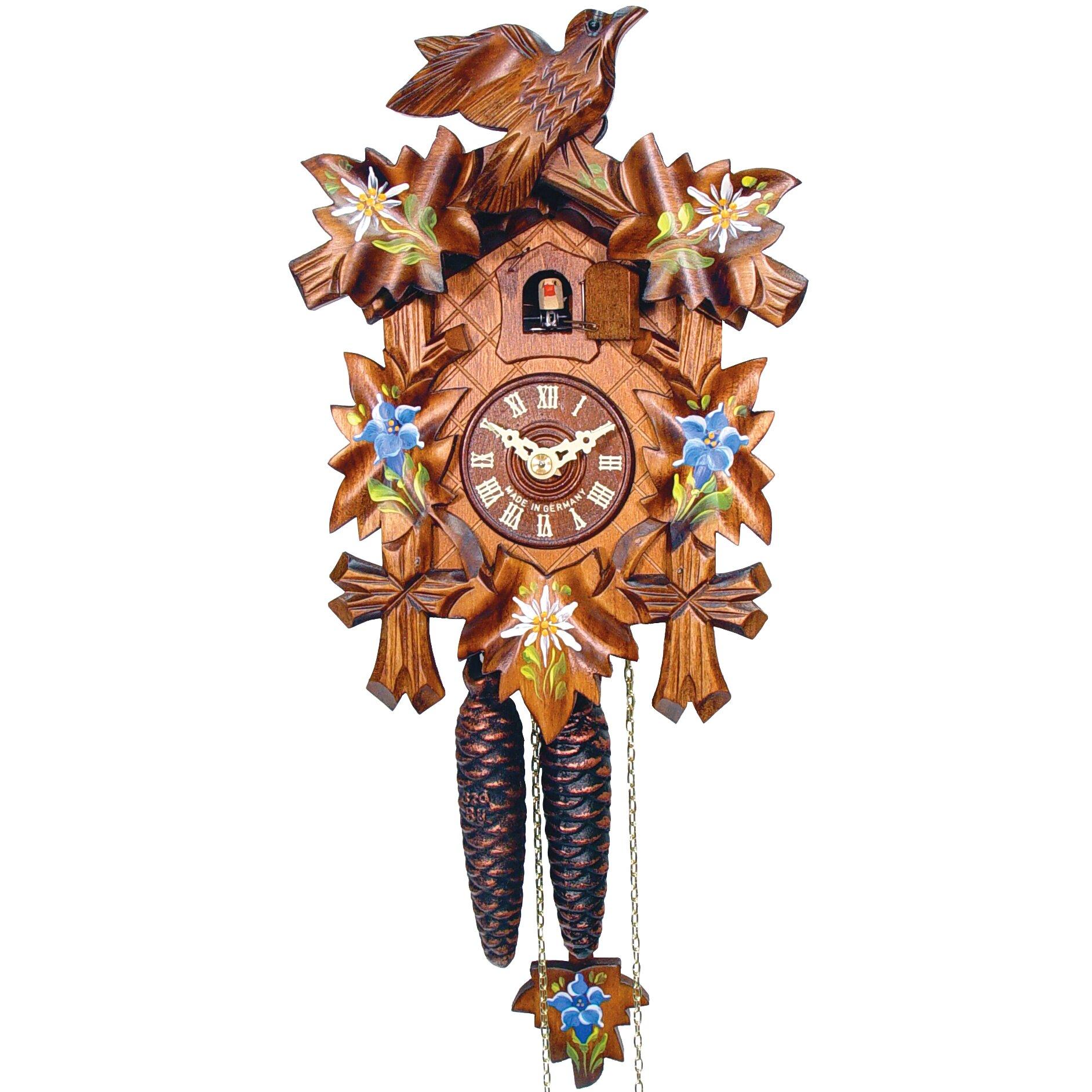 Black Forest Cuckoo Clock amp Reviews Wayfair : CuckooClockwithBlueFlowersandWalnutFinish from www.wayfair.com size 1884 x 1884 jpeg 538kB