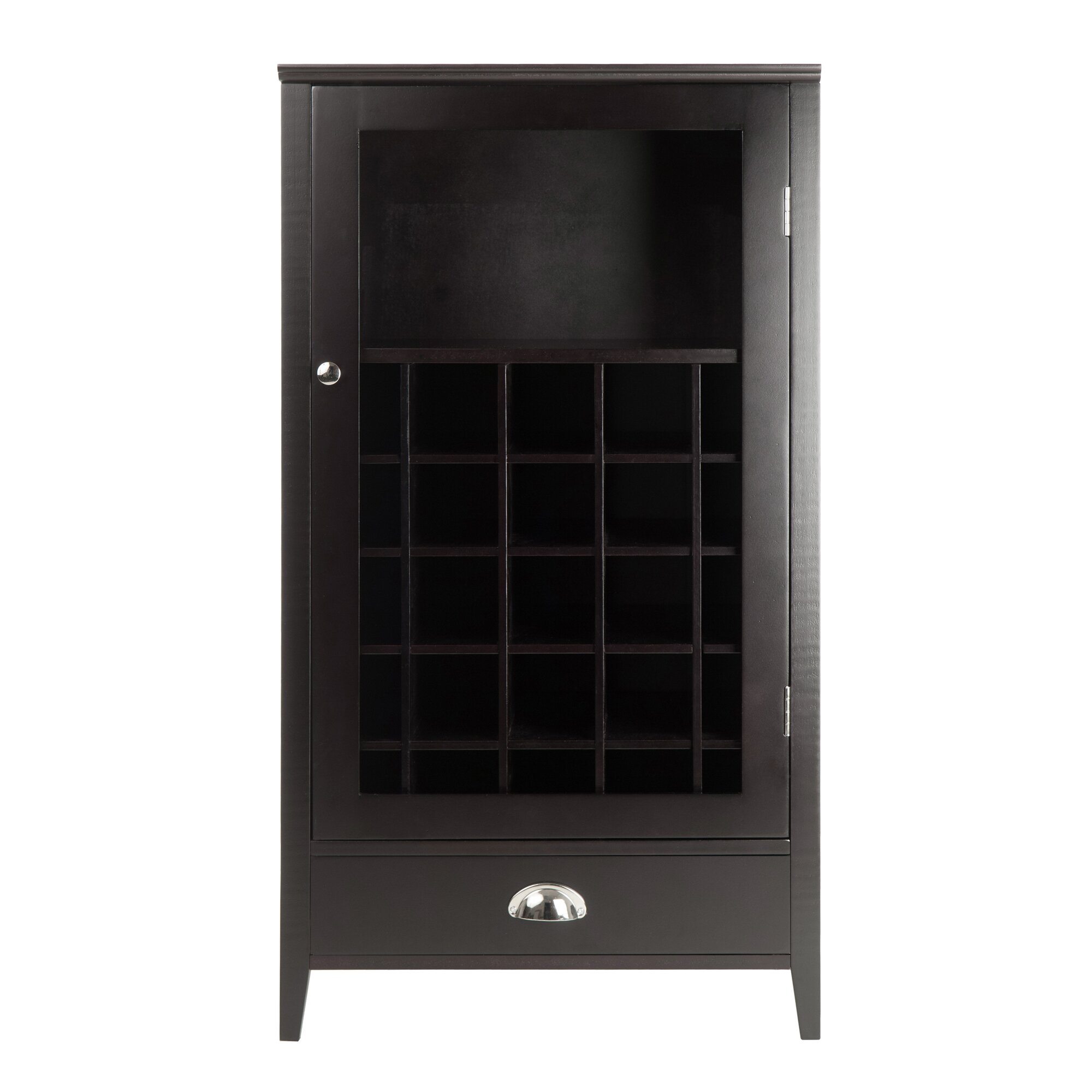 Winsome bordeaux 25 bottle floor wine cabinet reviews for Floor wine cabinet