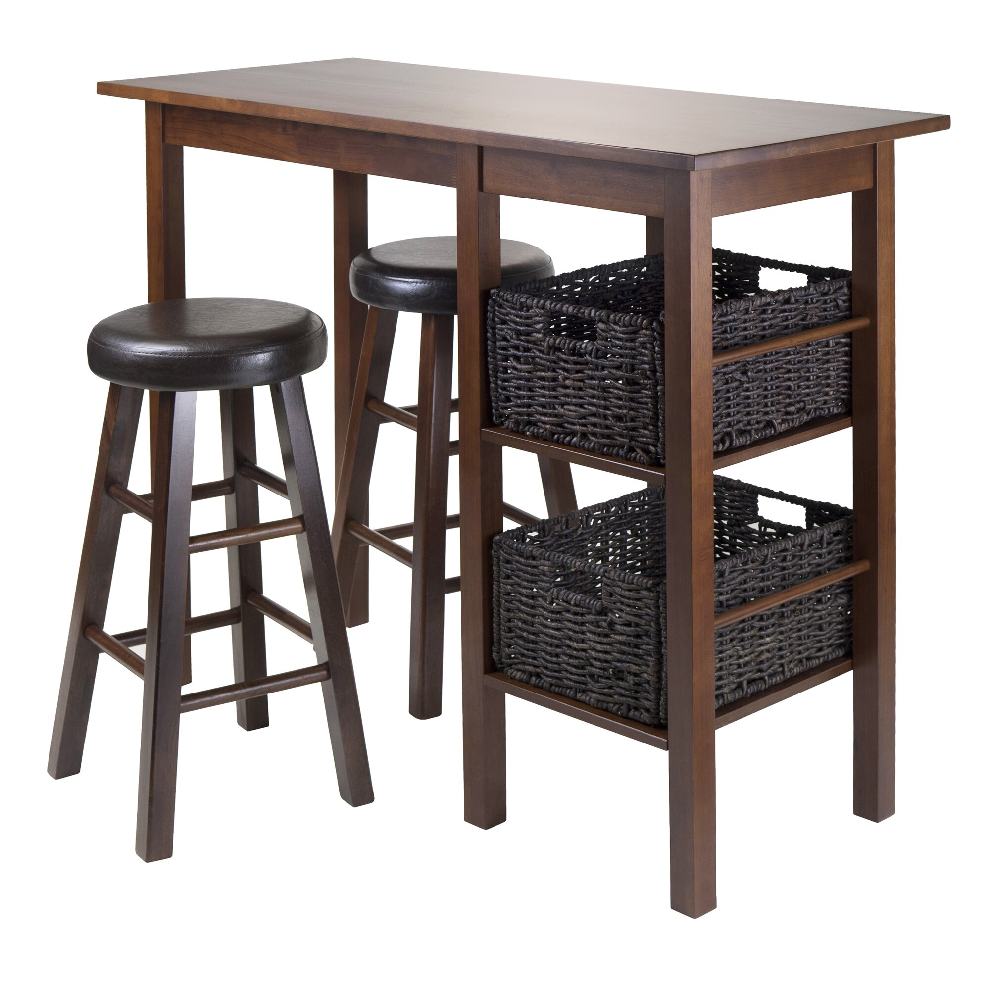 winsome egan 5 piece pub table set reviews wayfair. Black Bedroom Furniture Sets. Home Design Ideas