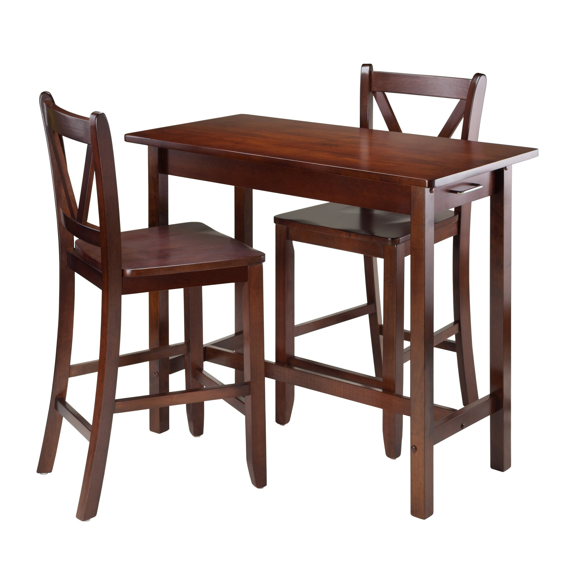 Winsome Kitchen Island 3 Piece Dining Set Reviews Wayfair