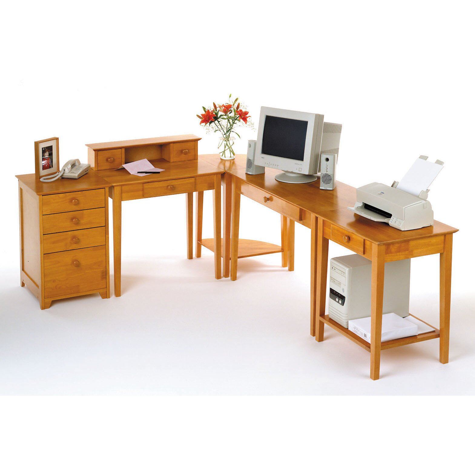 winsome studio computer desk with keyboard tray reviews