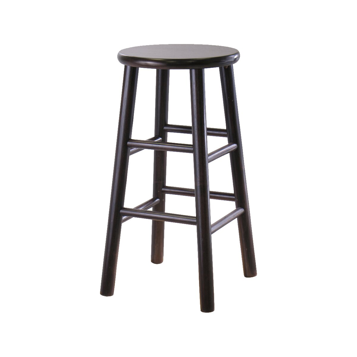 Winsome espresso 24 bar stool reviews wayfair for 24 inch bar stools