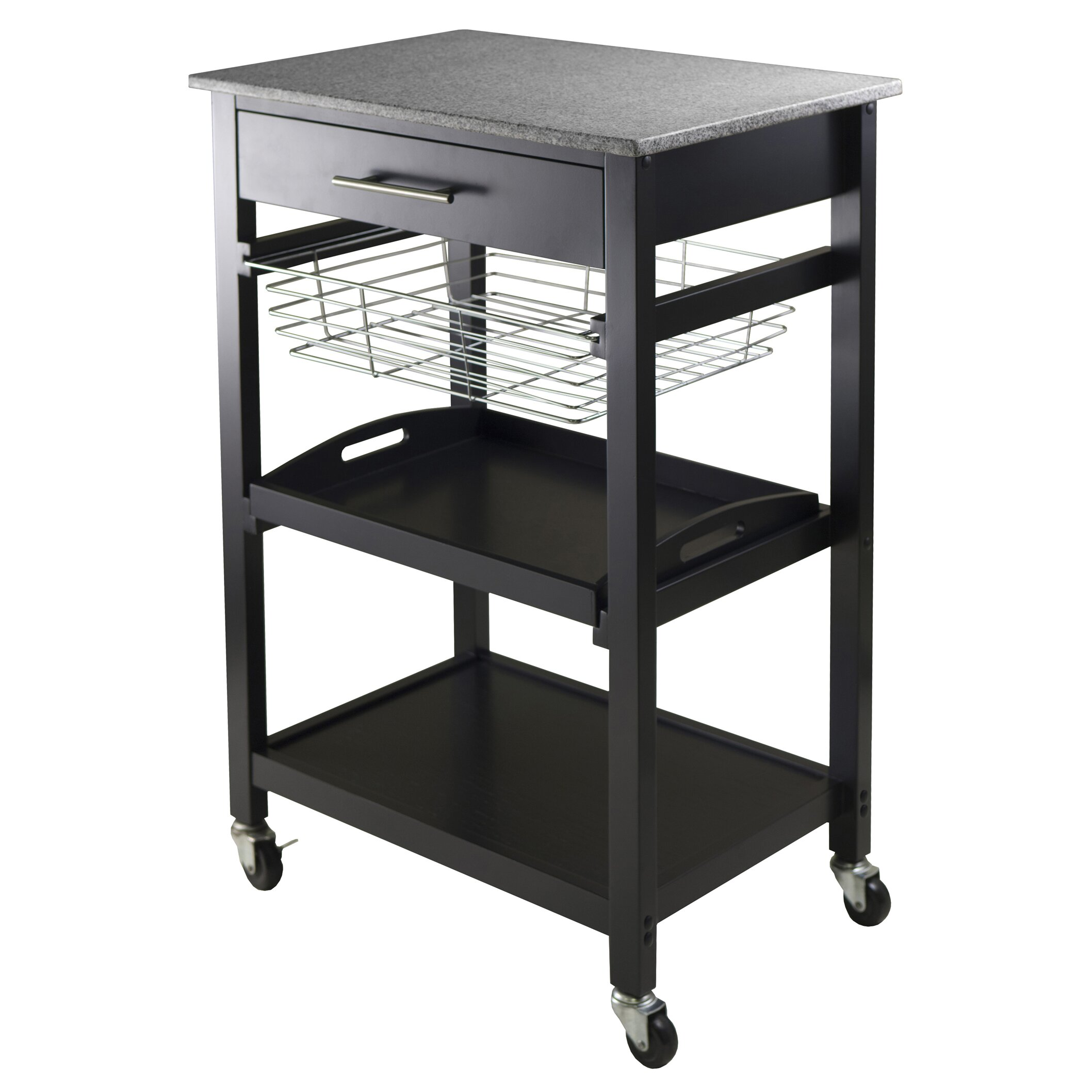 Winsome Julia Kitchen Cart with Granite Top & Reviews