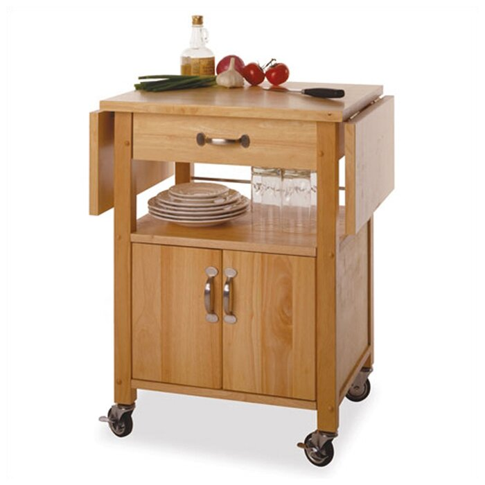 Winsome Basics Kitchen Cart With Wooden Top Reviews Wayfair