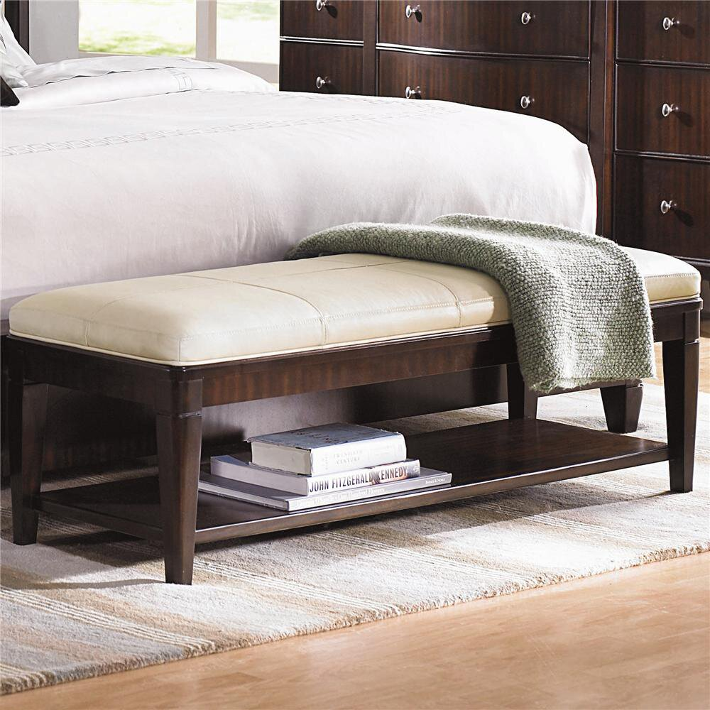 leather bedroom bench bernhardt westwood leather bench wayfair 12065