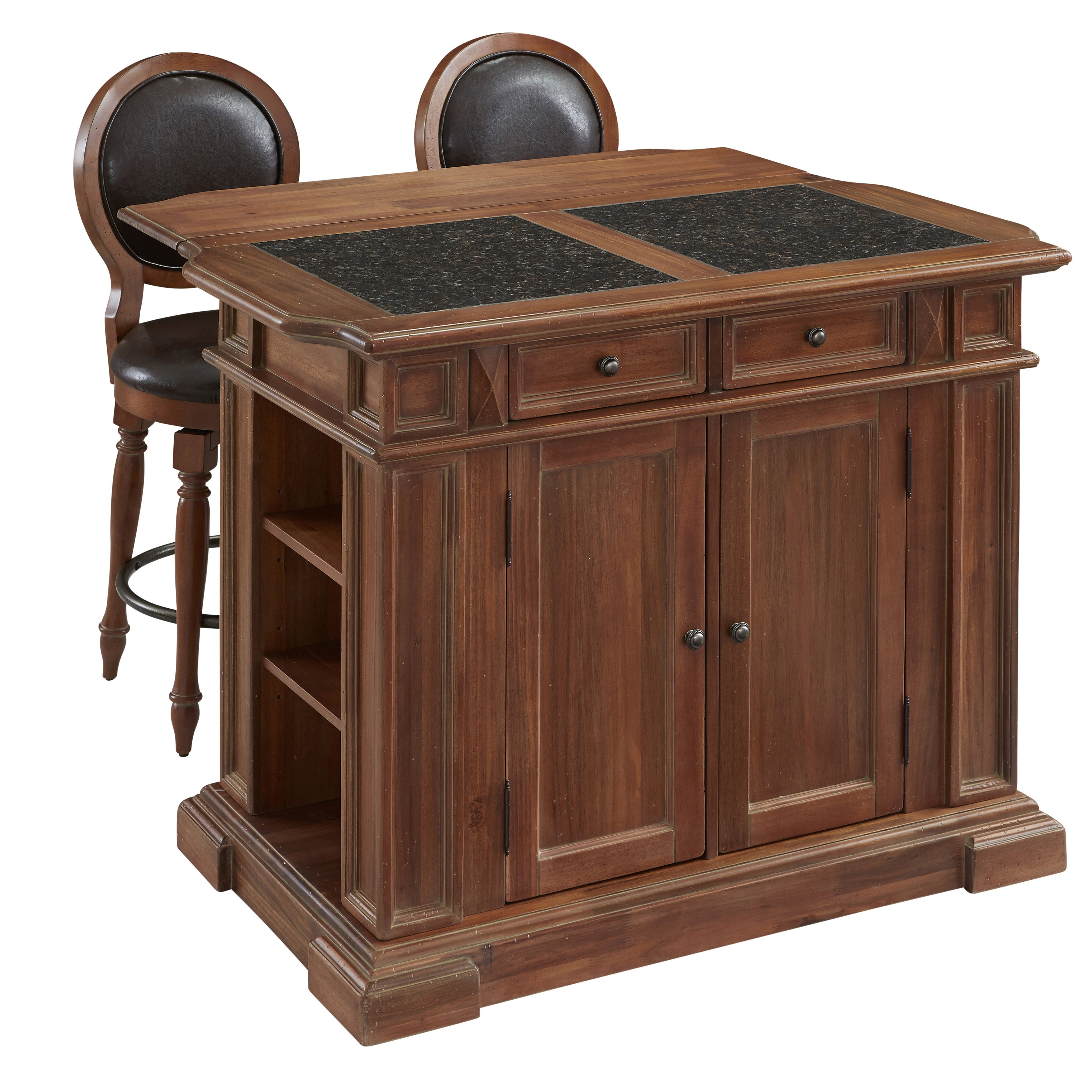 Oak Kitchen Island With Granite Top Provence Oak Granite Top Kitchen Island Best Kitchen Ideas 2017
