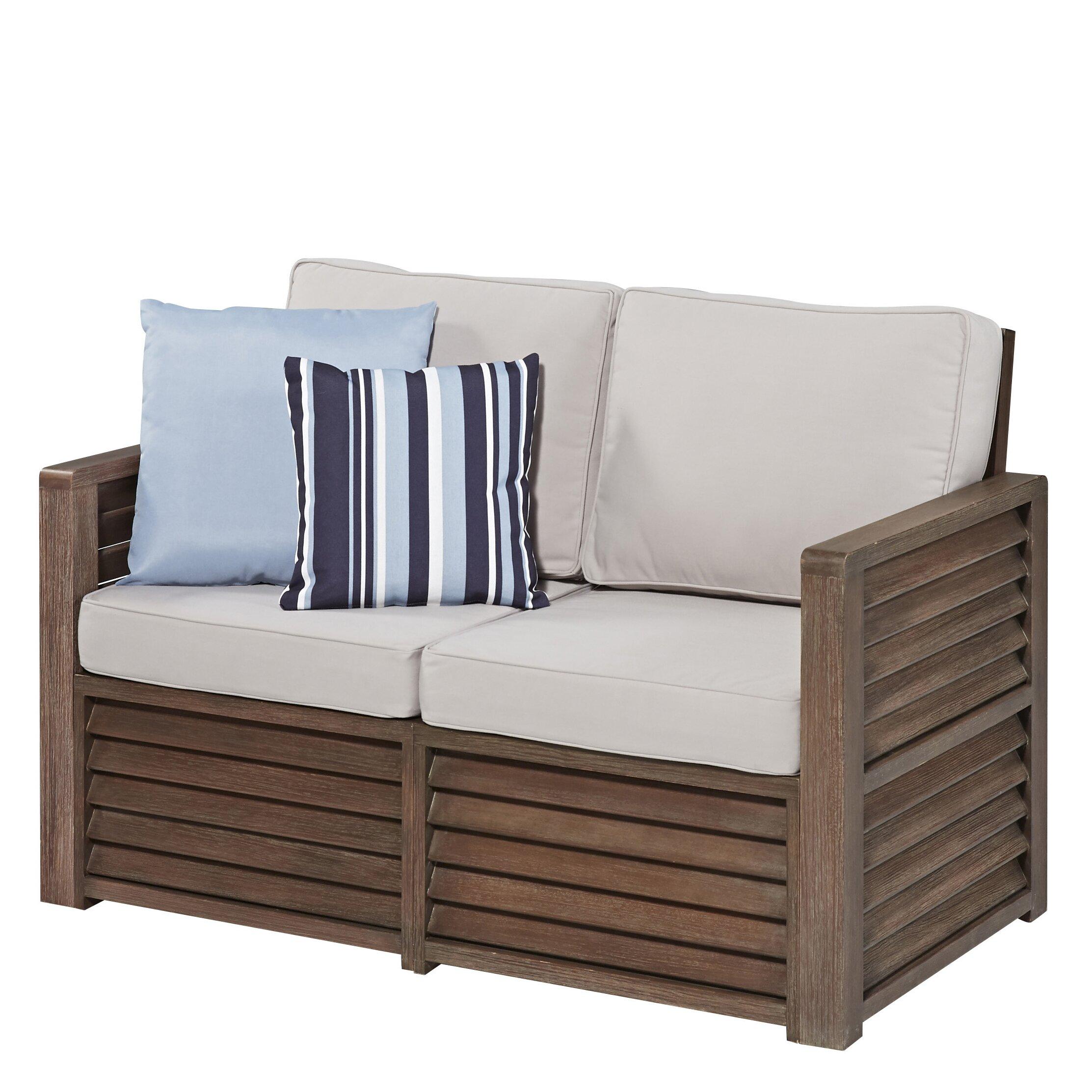Home Styles Barnside Deep Seating Loveseat With Cushions Reviews Wayfair