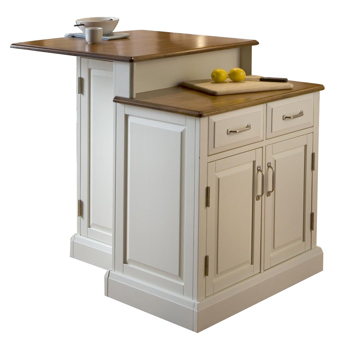 Home Styles Woodbridge 3 Piece Kitchen Island Set With