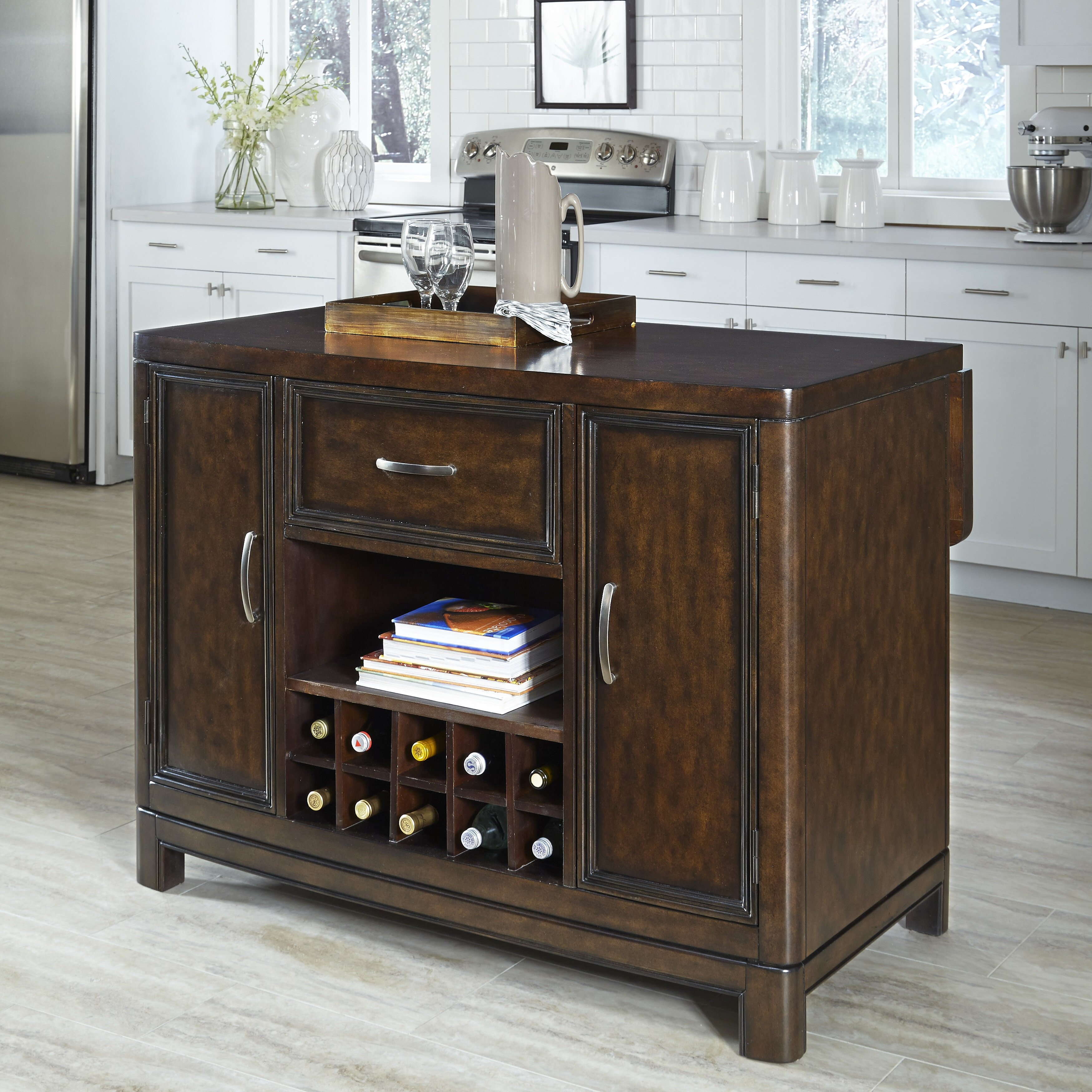 home styles crescent hill kitchen island reviews wayfair