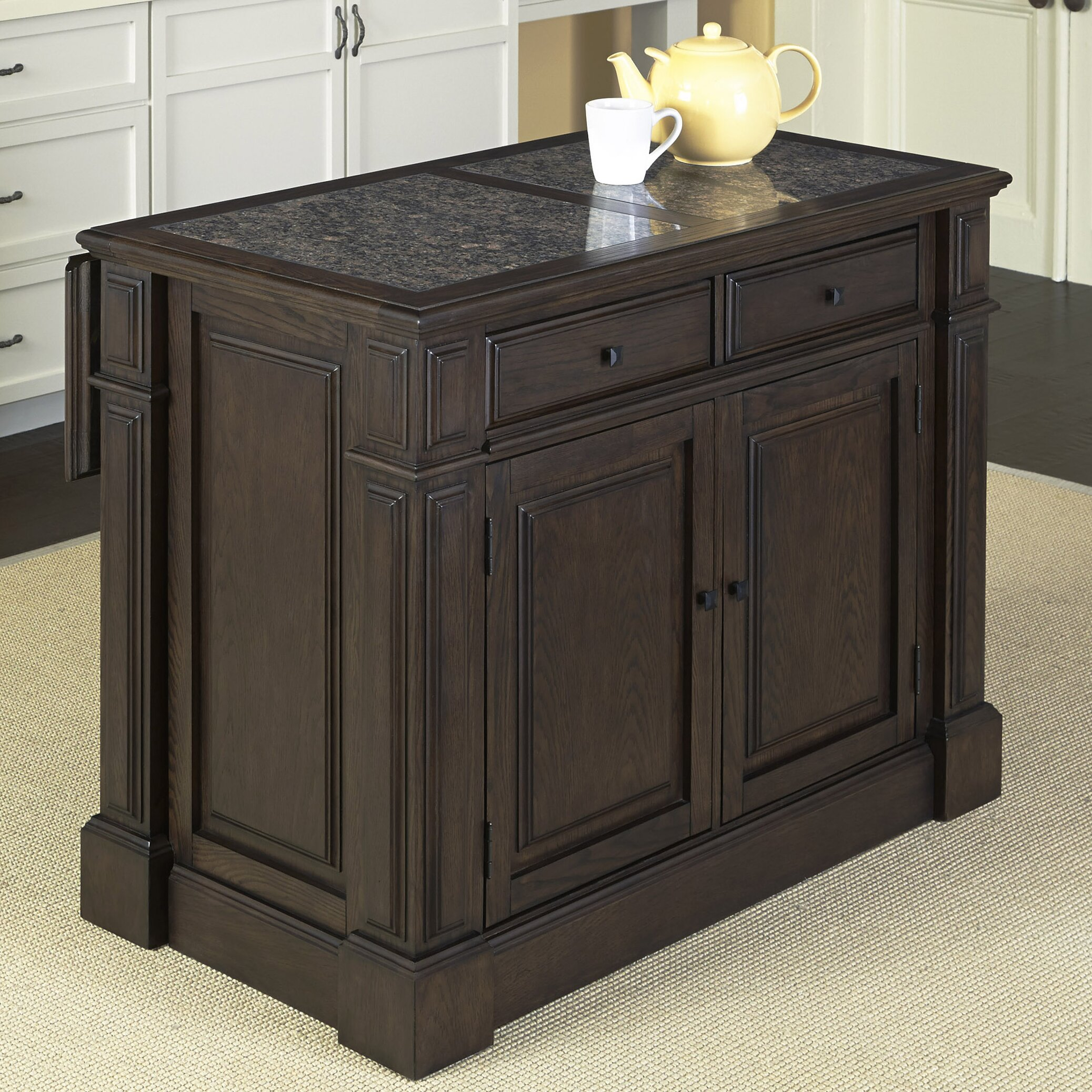 Kitchen Island With Granite Top: Home Styles Prairie Home Kitchen Island With Granite Top