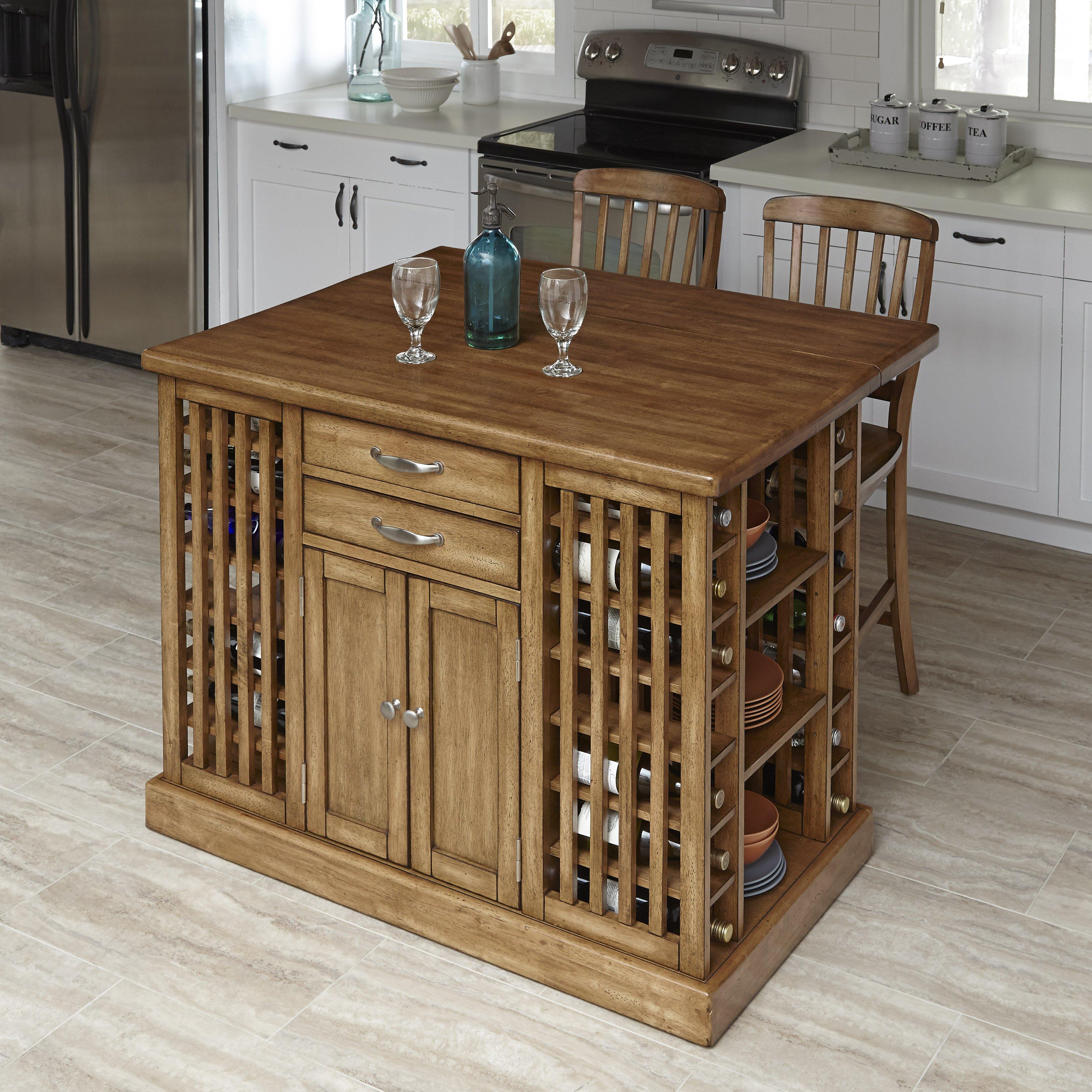 home styles the vintner 3 kitchen island set wayfair