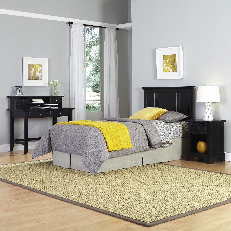 Home styles bedford panel 4 piece bedroom set wayfair for Bedroom 4 piece set