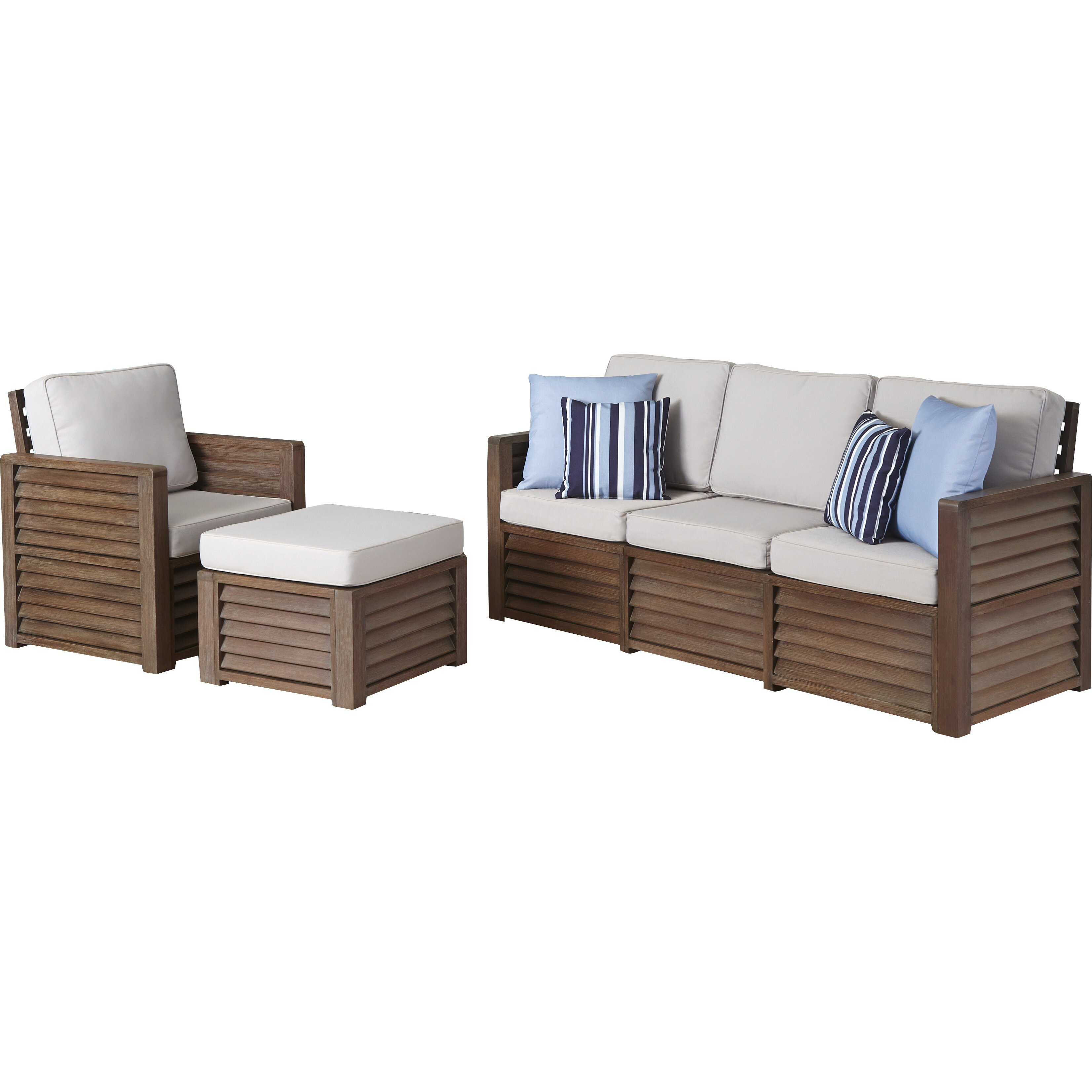 Home styles barnside 4 piece living room set wayfair for 4 piece living room set