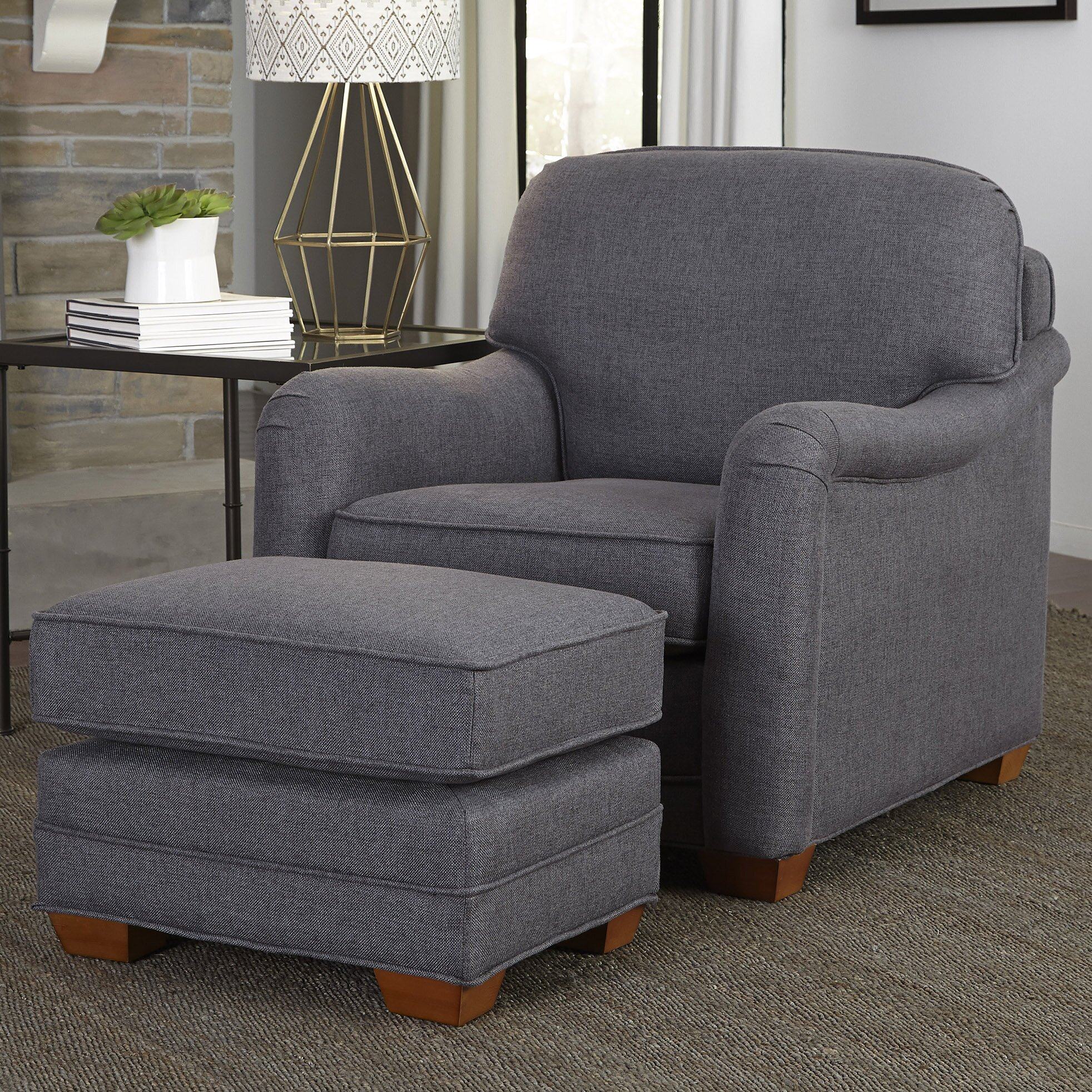 Home Styles Stationary Arm Chair And Ottoman Amp Reviews