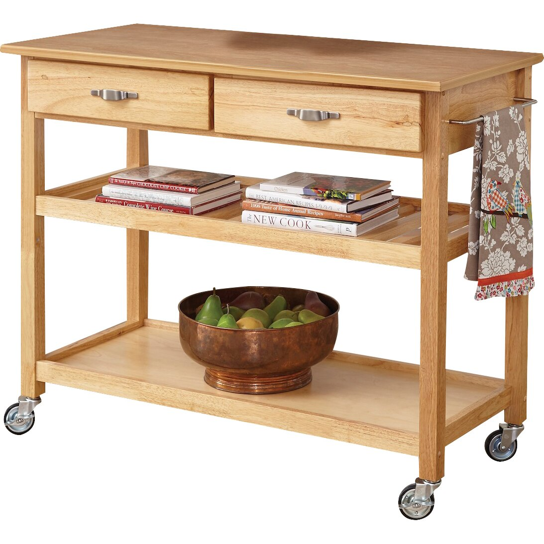 home styles kitchen island with wood top amp reviews wayfair kitchen island from crosley alexandria with natural wood top