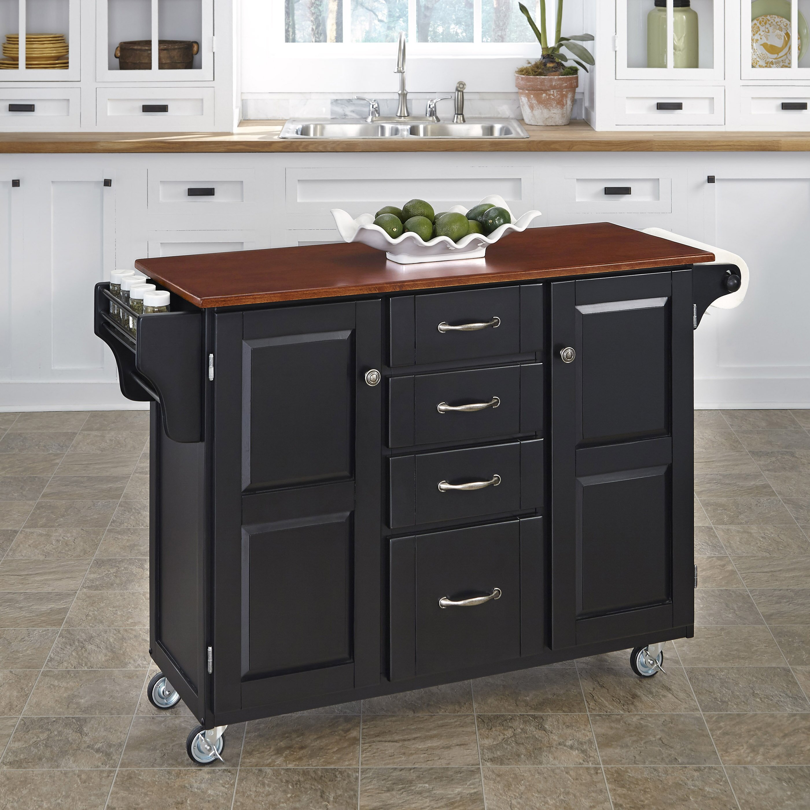 island cart kitchen home styles create a cart kitchen island amp reviews wayfair 1936