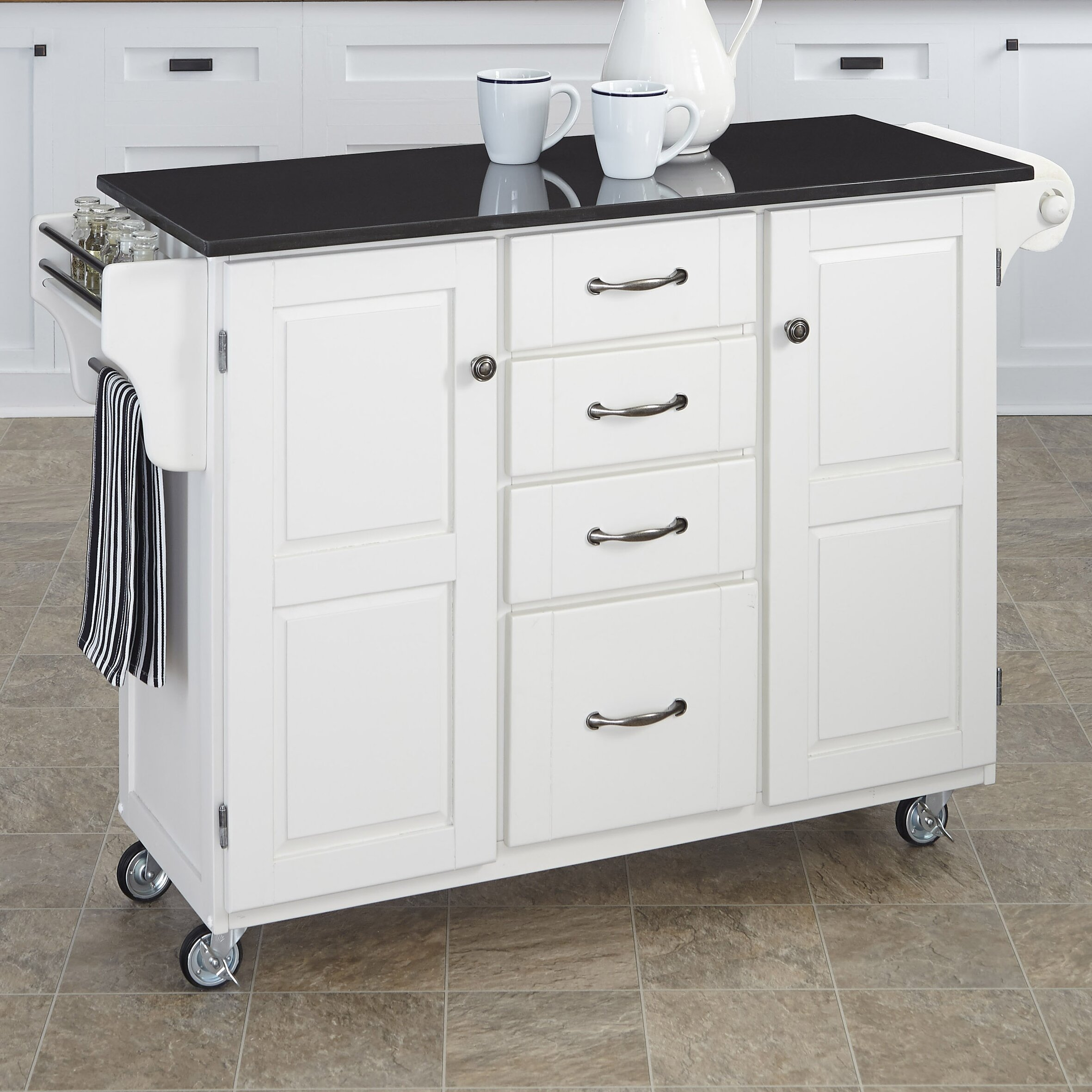 kitchen island cart granite top home styles create a cart kitchen island with granite top 24750