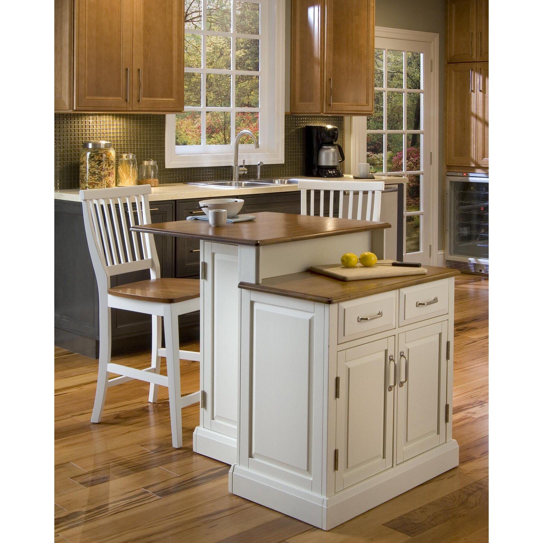 Kitchen Set Island: Home Styles Woodbridge 3 Piece Kitchen Island Set With