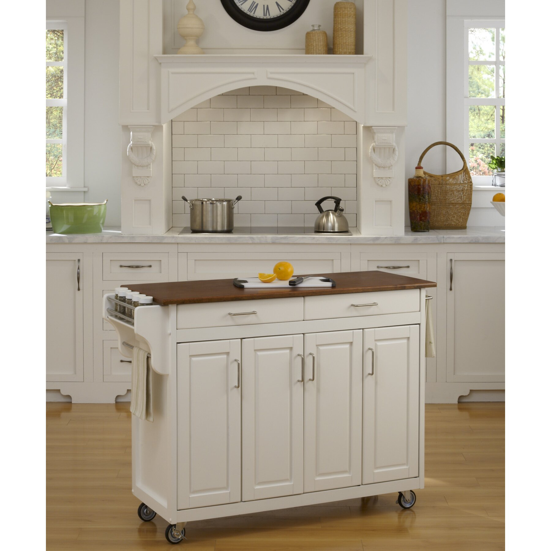 home styles create a cart kitchen island reviews wayfair
