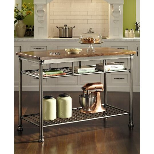 home styles orleans kitchen island with butcher block top home styles the orleans kitchen cart kitchen islands and
