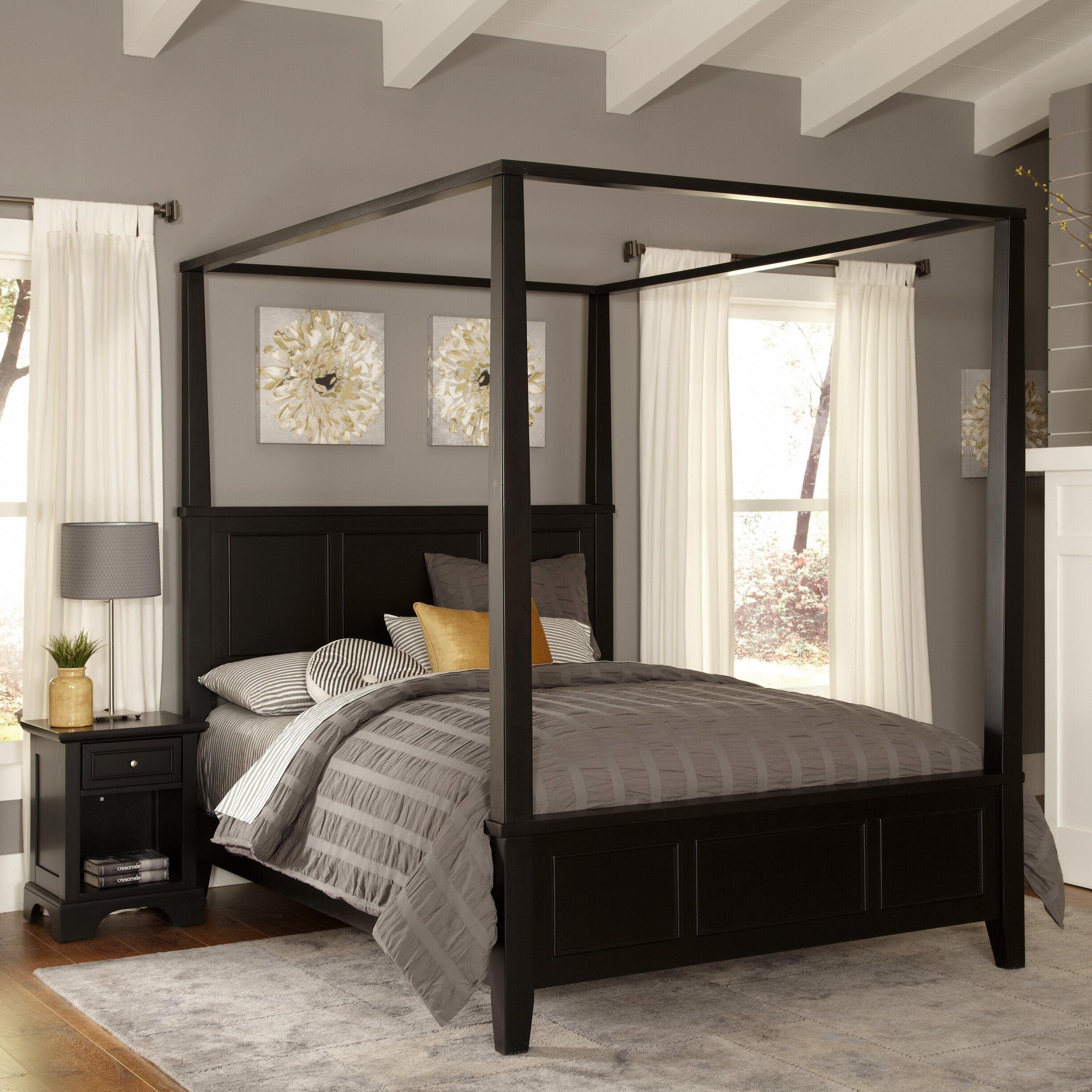 Home styles bedford canopy 2 piece bedroom set reviews Homestyles com