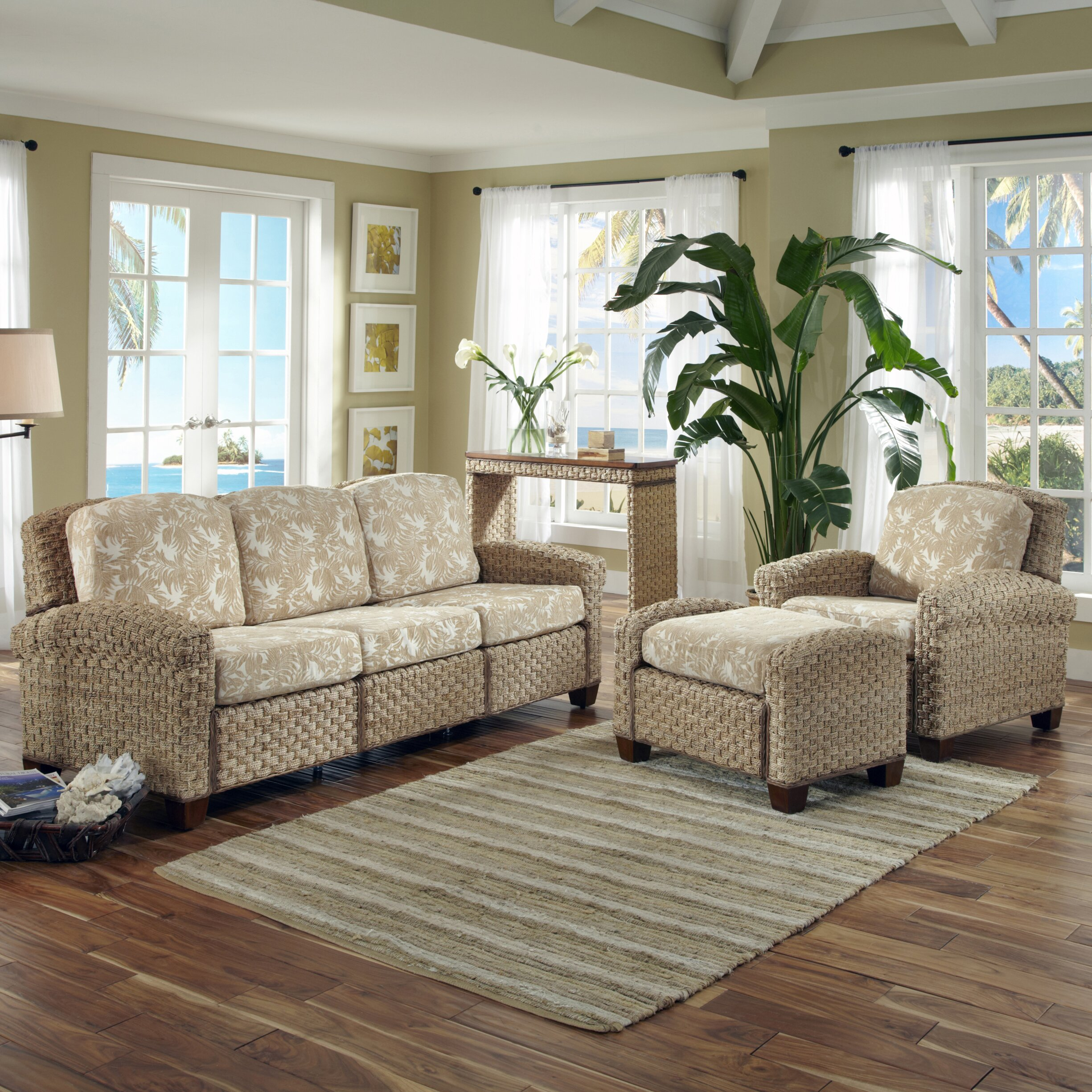 Home styles cabana banana ii 3 piece living room set wayfair for 3 piece living room set