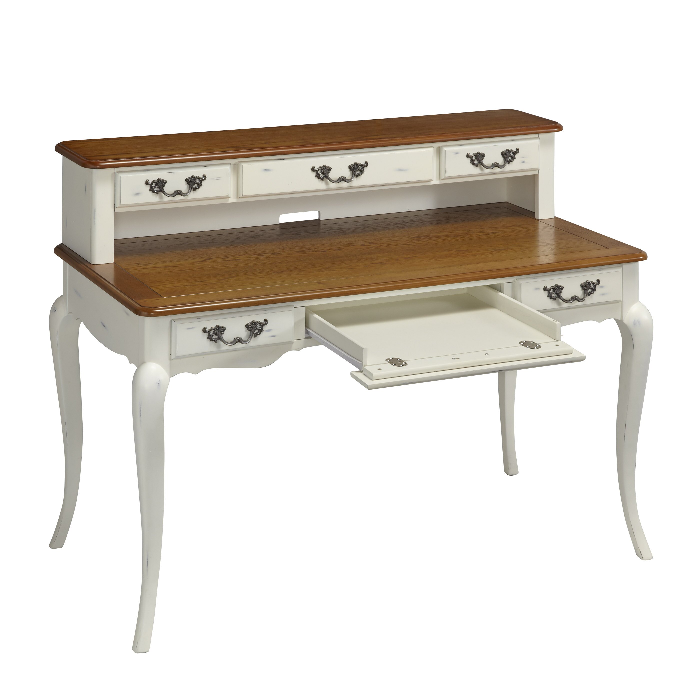 Very Impressive portraiture of Home Styles French Countryside Computer Desk & Reviews Wayfair with #6D4A29 color and 2800x2800 pixels
