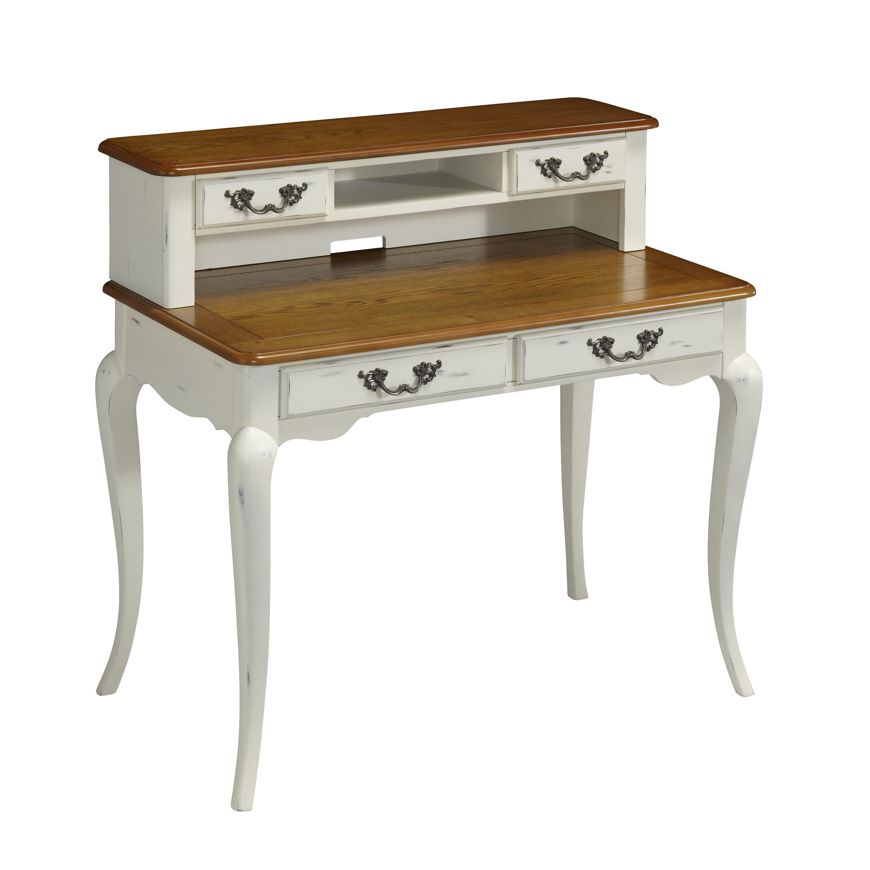 Home Styles French Countryside Writing Desk With Hutch In