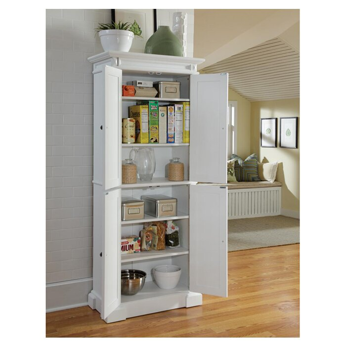 Portable Kitchen Pantries: Home Styles Americana Kitchen Pantry & Reviews