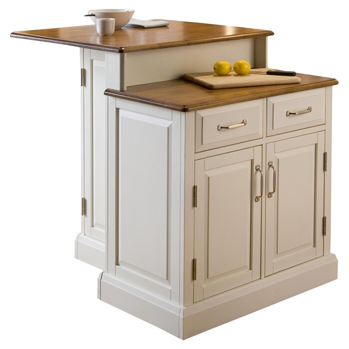 Home Styles Woodbridge Kitchen Island With Wooden Top Reviews Wayfair