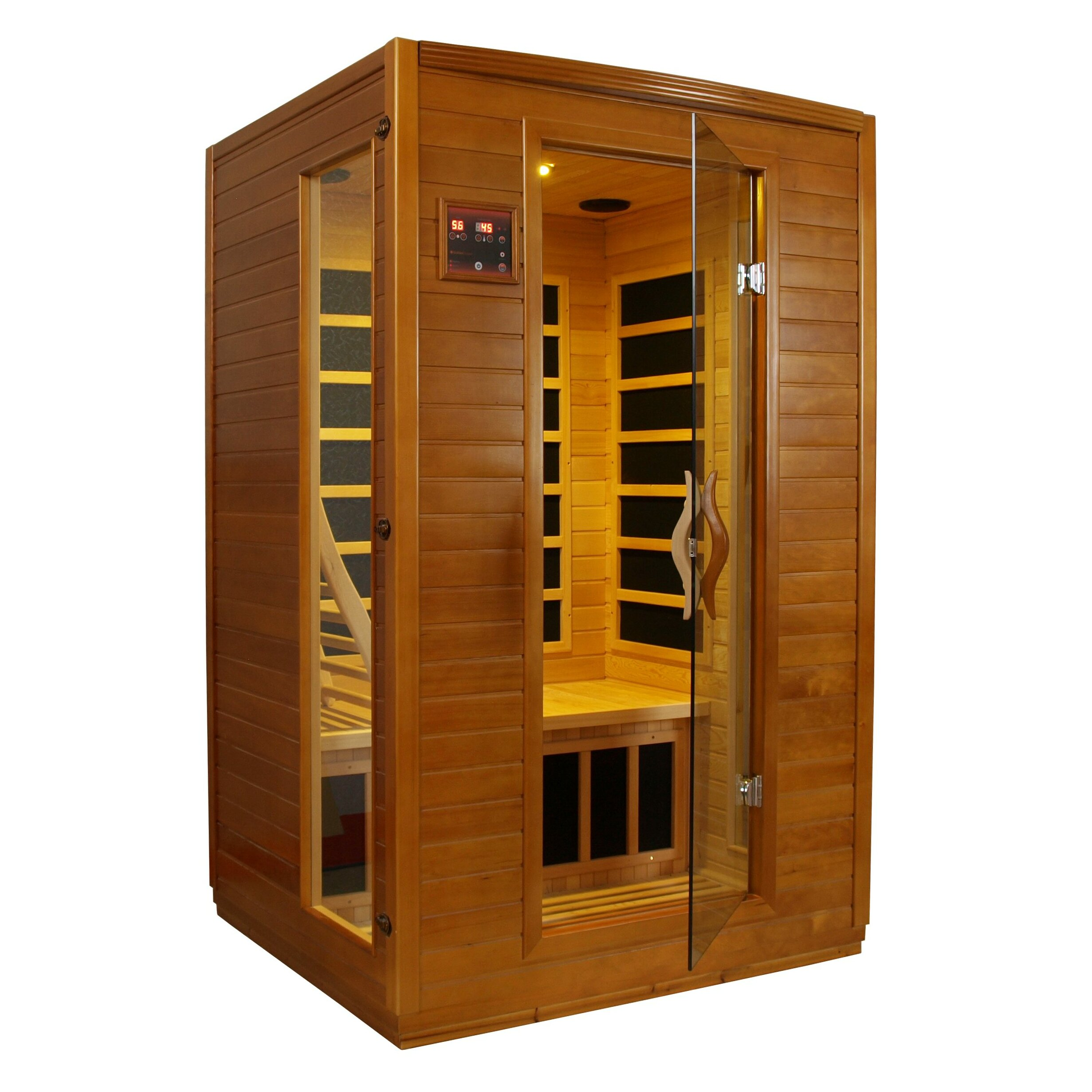 dynamic infrared luxury 2 person ir carbon far infrared sauna reviews wayfair. Black Bedroom Furniture Sets. Home Design Ideas