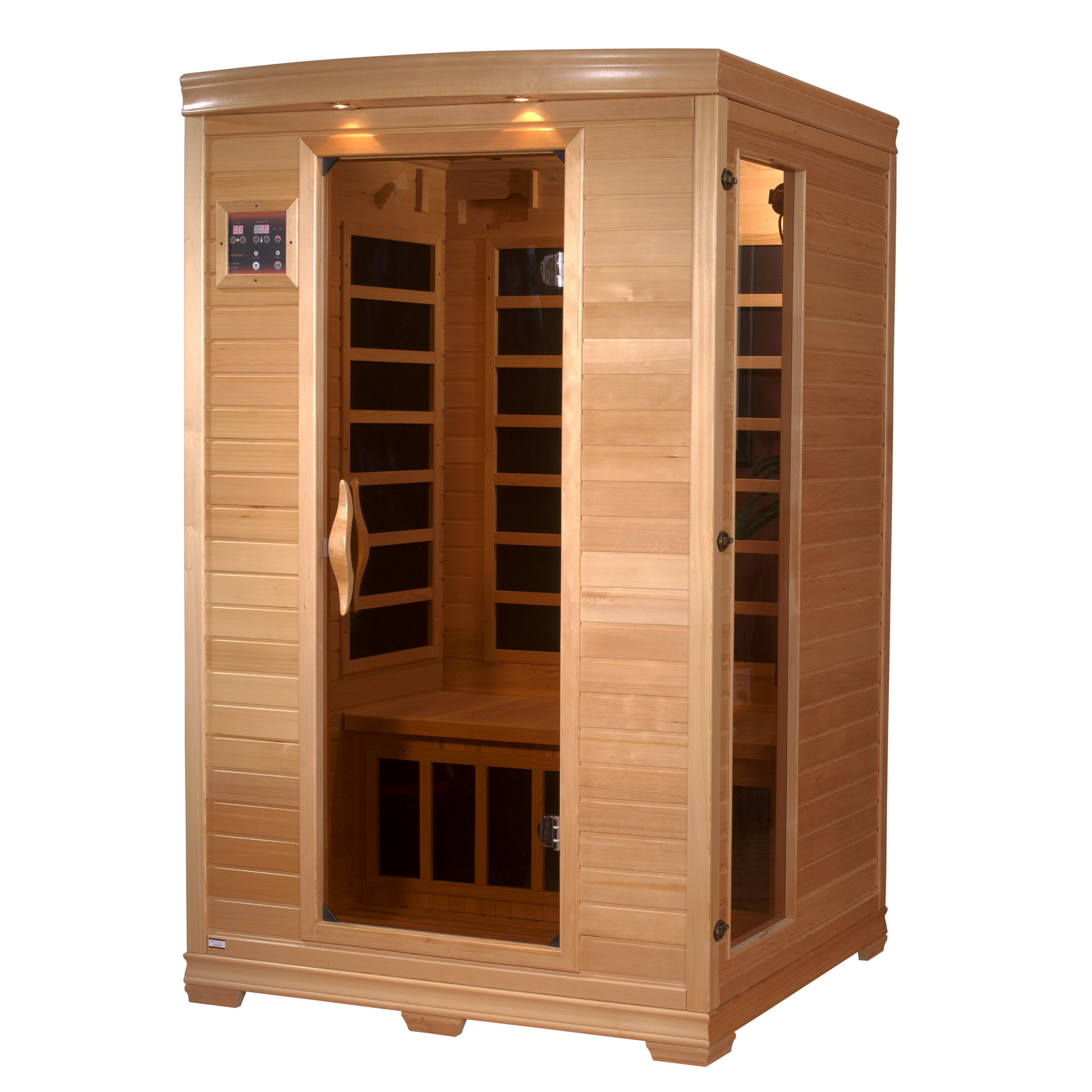 dynamic infrared luxury 2 person carbon far infrared sauna reviews wayfair. Black Bedroom Furniture Sets. Home Design Ideas