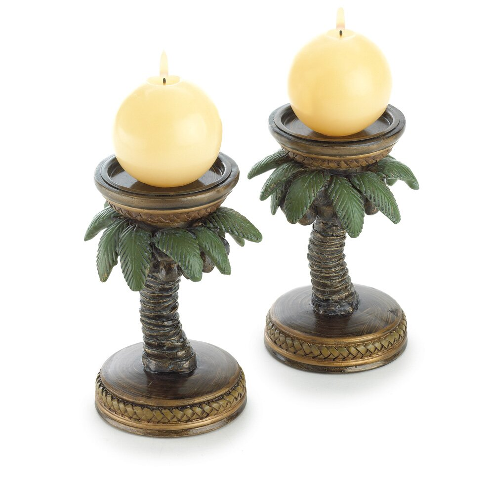 Zingz amp Thingz Tropical Tree Candle Holder Reviews Wayfair