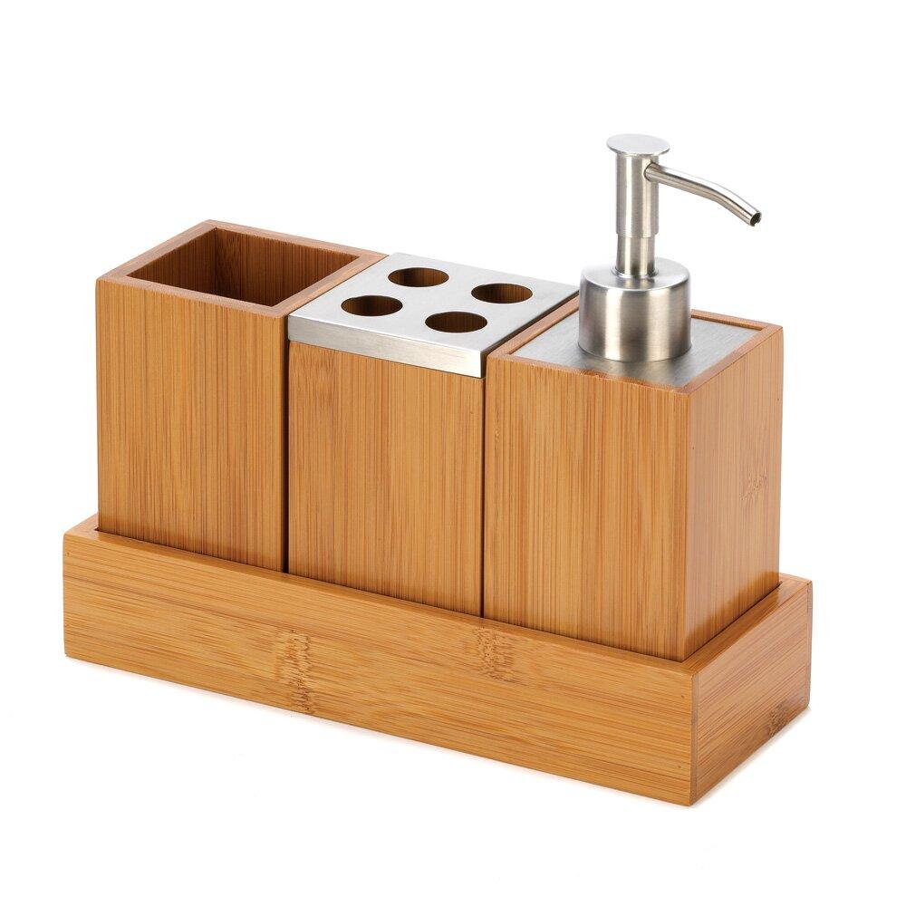Zingz thingz 4 piece bathroom accessory set reviews for Bathroom 4 piece set