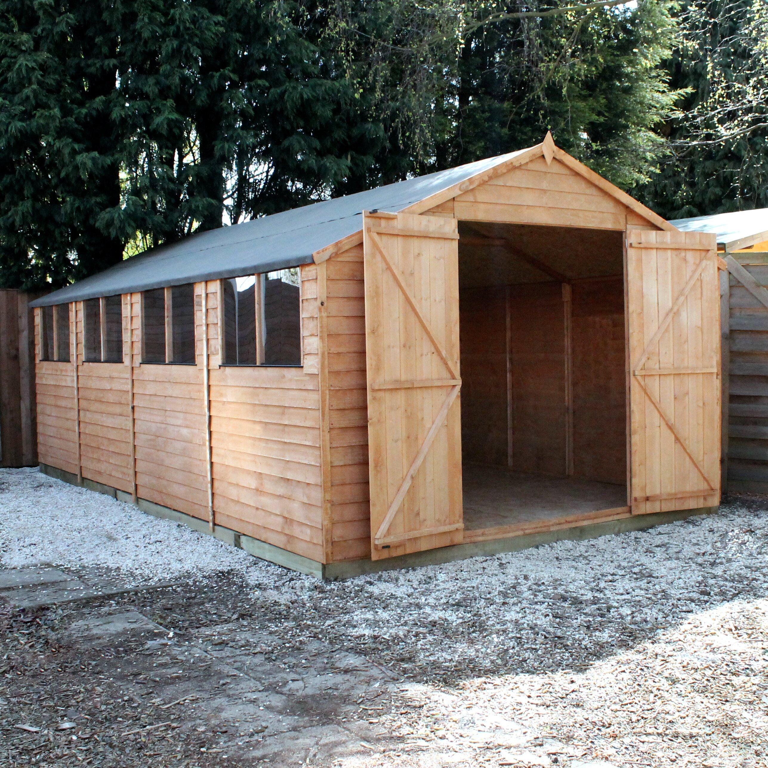 Mercia Garden Products 20 x 10 Overlap Apex Shed | Wayfair UK