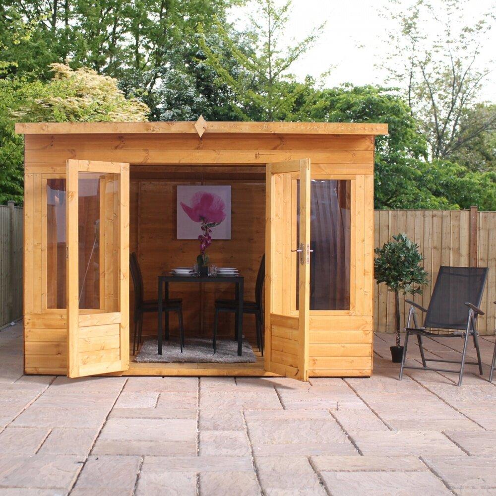 Mercia garden products helios 10 x 8 summerhouse reviews for Garden design with summer house